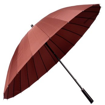 京东商城 美度24骨超大长柄晴雨伞 M5003咖啡色