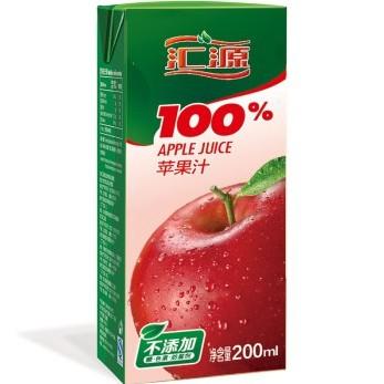 京东商城 汇源 100%苹果汁200ml*24盒