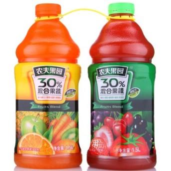 京东商城 农夫果园30%混合果蔬汁饮料 1.5L*6