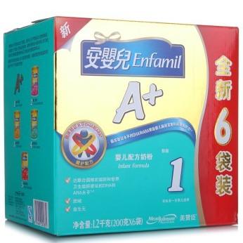 京东商城 美赞臣安婴儿A+婴儿配方奶粉 1段 1200克