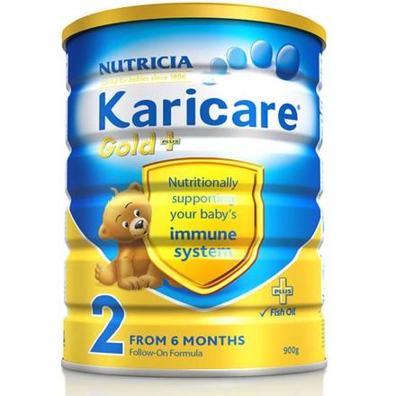 1号店 Karicare 可瑞佳 金装较大婴儿和幼儿 2段幼儿配方奶粉 900g*4罐