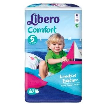 京东商城 丽贝乐 Libero 帆船装 婴儿纸尿裤 5号 L80片