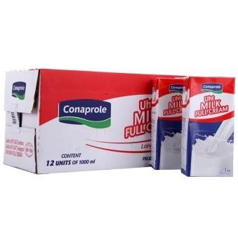 京东商城 Conaprole 卡贝乐 超高温灭菌 全脂牛奶 1L*12盒