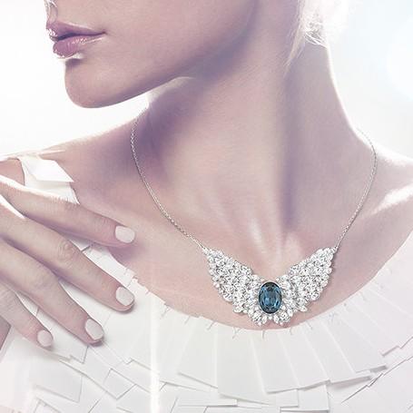 海淘:Swarovski官网 Swarovski施华洛世奇 天使之翼水晶项链 《小时代3》海报同款