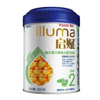 1号店 Wyeth 惠氏 illuma 启赋 较大婴儿配方奶粉 2段 900g