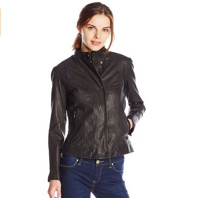 海淘:美国亚马逊 COLE HAAN Novelty 女士皮衣