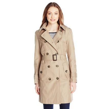 海淘:美国亚马逊 London Fog 女款双排扣风衣